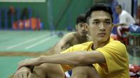 Pebulutangkis tunggal putra Indonesia, Jonatan Christie, yang merebut emas di Asian Games 2018 (Foto: Balgoraszky Arsitide Marbun/Liputan6.com)