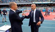 Pelatih Juventus, Massimiliano Allegri, dan pelatih Napoli, Luciano Spalletti. (Alessandro Garofalo/LaPresse via AP)