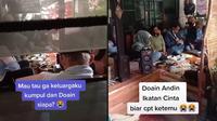Viral Aksi Satu Keluarga Gelar Doa Bersama Agar Andin Ketemu. (Sumber: TikTok/ @dkaniaaa_)