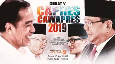 Live Streaming Debat Pamungkas Pilpres 2019. (Liputan6.com)