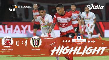 Berita video momen kemenangan Bali United di kandang Madura United dalam lanjutan Shopee Liga 1 2019, Selasa (20/8/2019).