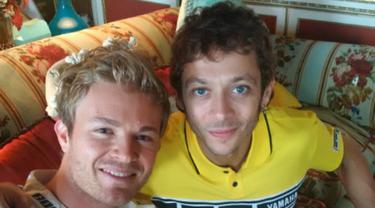 Valentino Rossi dan Nico Rosberg