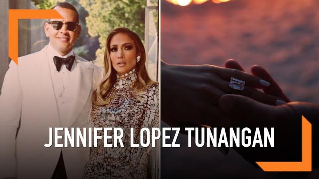 Pasangan Jennifer Lopez dan kekasih, Alex Rodriguez bertunangan. Momen bahagia tersebut mereka bagikan di Instagram