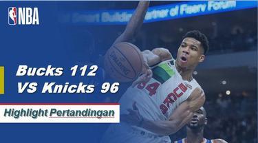 Giannis Antetokounmpo mencetak 31 poin dan 14 rebound untuk memimpin Milwaukee di atas New York, 112-96.