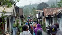 Suasana usai goncangan gempa di Kalibening, Banjarnegara. (Foto: Liputan6.com/SRU RAPI BNA/Muhamad Ridlo)