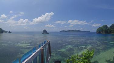 Lokasi wisata Pantai Tambung, Pantai yang berada di pesisir Pulau Sangihe (Arfandi Ibrahim/Liputan6.com)