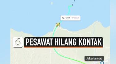 Pesawat komersil Sriwijaya Air tujuan Pontianak dari Jakarta hilang kontak. Pesawat hilang kontak Sabtu (9/1) siang pukul 14.40 WIB. Situs Flightradar24 ikut melaporkan hilangnya pesawat.