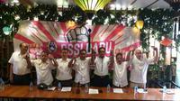 Deklarasi 9 Caketum PSSI di FX Sudirman, Jakarta Pusat, Jumat (1/11/2019). (Bola.net/Fitri Apriani).