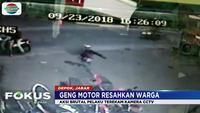 Pelaku yang berjumlah enam orang menggunakan sepeda motor langsung menyerang warga dengan senjata tajam.