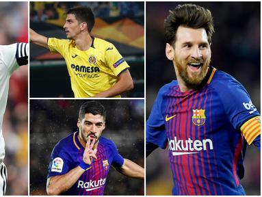 Berikut ini daftar topskor sementara La Liga Spanyol. Lionel Messi di posisi puncak dengan koleksi 19 gol sementara Striker Real Madrid, Karim Benzema di urutan kedua dengan 14 gol.