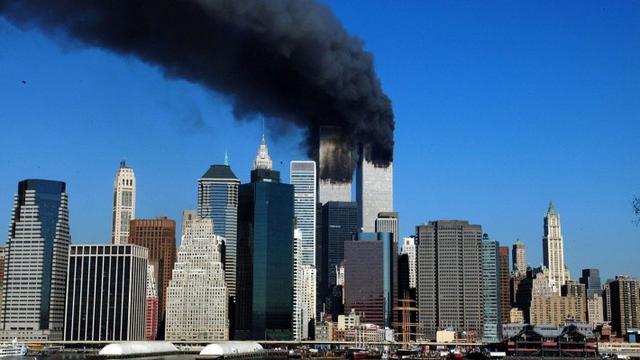 Ilustrasi tragedi teror Serangan 11 September di New York, AS (AFP/Henry Ray Abrams)