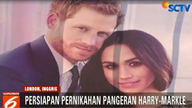 Warga Inggris sangat antusias menyambut pernikahan Pangeran Harry dan Meghan Markle.