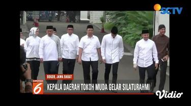 Sebanyak delapan kepala daerah dan tokoh muda menggelar pertemuan di Museum Kepresidenan, Istana Bogor, Jawa Barat.