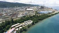 Kawasan industri Indonesia Weda Bay Industrial Park (IWIP) di Halmahera Tengah, Maluku Utara. (Ist)