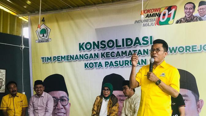 Calon anggota legislatif (caleg) DPR dari Golkar untuk daerah pemilihan (dapil) Jawa Timur II Mukhamad Misbakhun. (Istimewa)