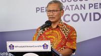 Juru Bicara Pemerintah untuk Penanganan COVID-19 Achmad Yurianto saat konferensi pers Corona di Graha BNPB, Jakarta, Minggu (14/6/2020). (Dok Badan Nasional Penanggulangan Bencana/BNPB)