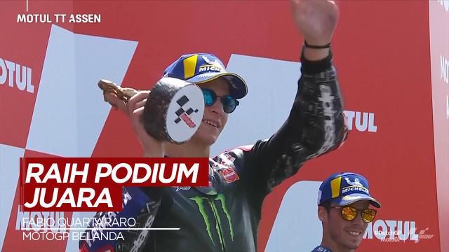 Berita Video Fabio Quartararo Raih Podium Juara di MotoGP Belanda