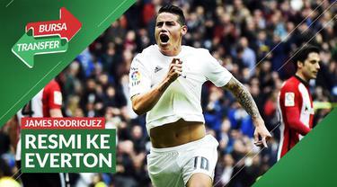 Berita Video Bursa Transfer: Tinggalkan Real Madrid, James Rodriguez Resmi ke Everton