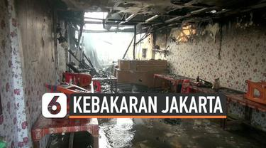 Kebakaran terjadi di kawasan KS Tubun Tanah Abang Jakarta Pusat. Api diduga berasal dari kompor gas sebuah warung soto yang merembet ke kios sebelah yang dijadikan industri konveksi.