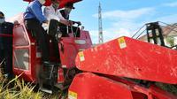 kunjungan kerjanya ke proyek prioritas food estate di Kabupaten Humbang Hasundutan