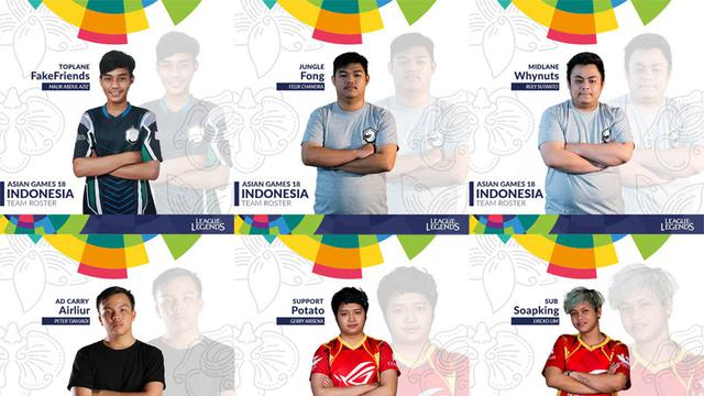 Daftar 17 Figur Pelatih dan Atlet E-Sports Indonesia di Asian