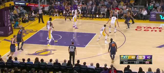 Berita video game recap NBA 2017-2018 antara Utah Jazz melawan LA Lakers dengan skor 112-97.