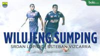 Persib Bandung Srdan Lopicic dan Esteban Vizcarra (Bola.com/Adreanus Titus)