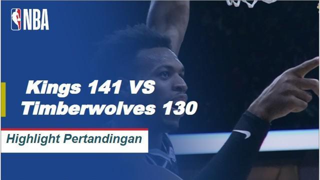 Nemanja Bjelica mencetak 25 poin dan meraih lima rebound dalam kemenangan Kings 141-130 atas Timberwolves