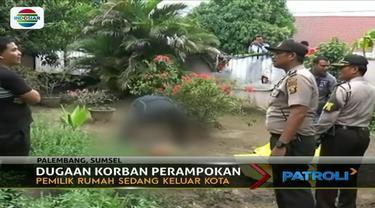 Diduga menjadi korban perampokan, pria penjaga sebuah rumah di Palembang ditemukan tewas dalam kondisi terjerat ikat pinggang.