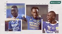 Ezechiel N'douassel, Michael Essien dan Makan Konate. (Bola.com/Dody Iryawan)