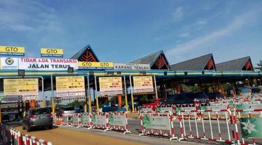 Gerbang Tol Karang Tengah (Foto: Ilyas/Liputan6.com)