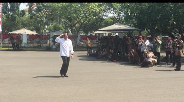 Politikus Nasdem Syahrul Yasin Limpo menyambangi Istana.