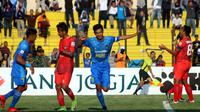 PSIM Yogyakarta menang 3-2 atas Madura FC di Stadion Sultan Agung, Bantul, Selasa (16/10/2018) sore. (Bola.com/Ronald Seger)