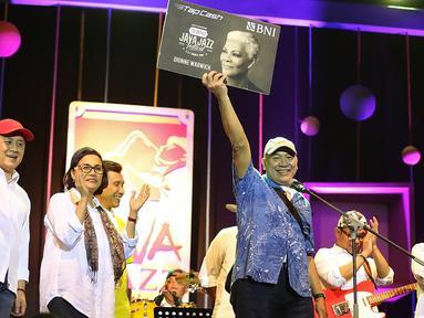 Pagelaran musik Java Jazz Festival 2018 mulai dibuka Jumat (2/3/2018) malam. Tidak hanya musisi profesional yang meramaikan acara, tapi juga para menteri yang membentuk band Elek Yo Band. (Bambang E Ros/Bintang.com)