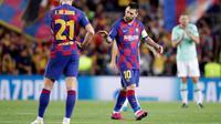 Lionel Messi menjadi inspirasi permainan Barcelona saat berhadapan dengan Inter Milan. (dok. UEFA)