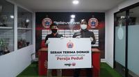 Persija menggandeng PSSI Pers untuk membantu ekonomi masyarakat yang terkena dampak pandemi virus corona. (PSSI Pers)
