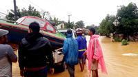 Kondisi bencana banjir di Kalimantan Selatan