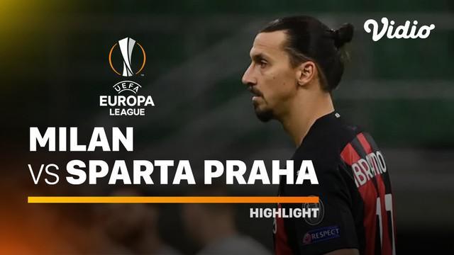 Berita video highlights laga grup H Liga Eropa 2020/2021 antara Ac Milan kontra Sparta Praha yang berakhir dengan skor 3-0. Milan melanjutkan tren positifnya saat menjamu Sparta Praha di San Siro Jumat (30/10/2020) dinihari WIB.