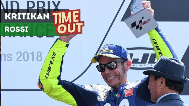 Berita video Time Out kali ini tentang Valentino Rossi yang memberi kritikan keras kepada timnya, Yamaha, setelah hasil yang diraih di MotoGP Prancis 2018.
