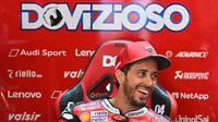 Pembalap Ducati, Andrea Dovizioso, menyebut kemenangan yang diraihnya pada MotoGP Austria 2020 terasa aneh karena terdapat dua start dalam satu balapan. (AFP/Joe Klamar)