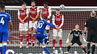 Arsenal menelan kekalahan 0-1 dari Everton pada laga pekan ke-33 Premier League di Stadion Emirates, Sabtu (24/4/2021) dini hari WIB. (Justin Setterfield/POOL/AFP)