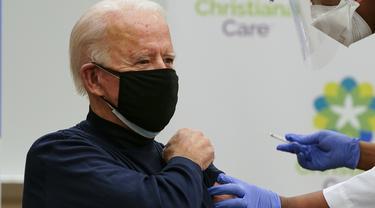 Joe Biden Disuntik Vaksin Corona COVID-19
