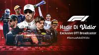 Gelaran Formula 1 Kini hadir Eksklusif di Vidio, Jangan Lewatkan Keseruannya. (Sumber : dok. vidio.com)