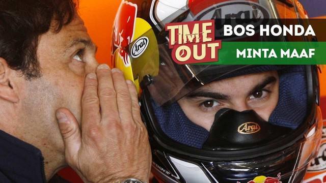 Bos Repsol Honda, Alberto Puig, meminta maaf kepada Valentino Rossi dan tim Yamaha terkait aksi Marc Marquez pada MotoGP Argentina, di Sirkuit Termas de Rio Hondo, Minggu (9/4/2018).