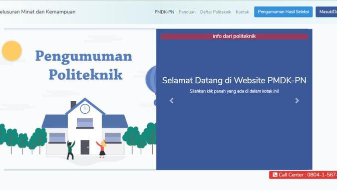 Hasil Pengumuman PMDK PN Keluar Siang Ini - News Liputan6.com