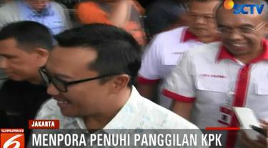 Menpora diperiksa sebagai saksi untuk tersangka Sekjen KONI Ending Fuad Hamidy.