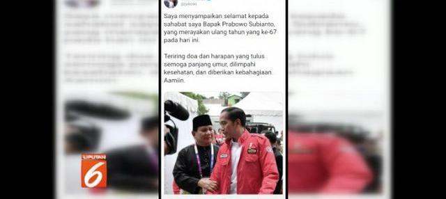 Prabowo Subianto rayakan ulang tahun bersama sejumlah relawan di pusat perbelanjaan kawasan Blok M, Jakarta Selatan.