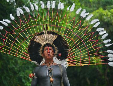 Potret Suku Asli Brasil Saat Rayakan Indian Day