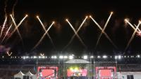 Acara penutupan SEA Games 2019 berlangsung di New Clark City Athletic Stadium, Rabu (11/12/2019) malam waktu setempat. Acara dimeriahkan konser musik dan atraksi drone. (Bola.com/Muhammad Iqbal Ichsan)