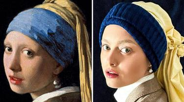 6 Potret Wanita Cosplay Jadi Mirip Lukisan Terkenal, Totalitas Tanpa Batas